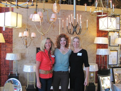 patricia davis brown at lighting showroom