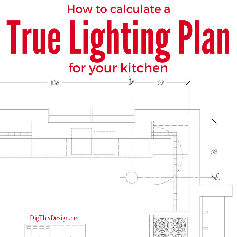 A true lighting design plan led technology for Kitchen lighting plan