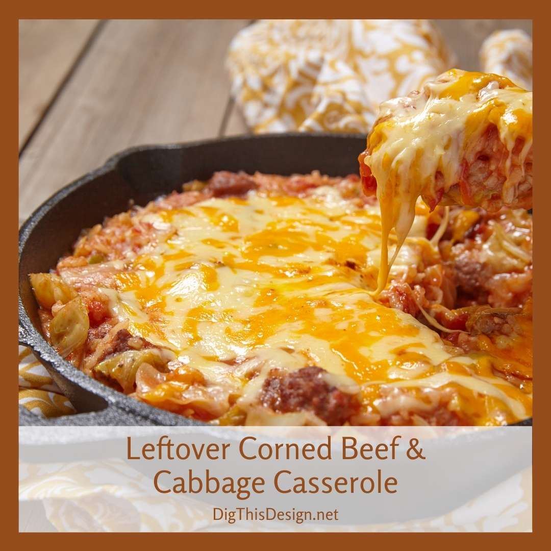 Leftover Corned Beef and Cabbage Casserole