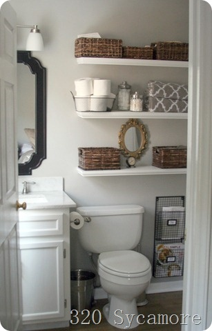 Storage solutions for a small bathroom for Small bathroom designs 2012
