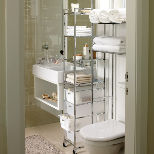 Portable Bathroom Shelving Units and Drawers & Storage Solutions for a Small Bathroom
