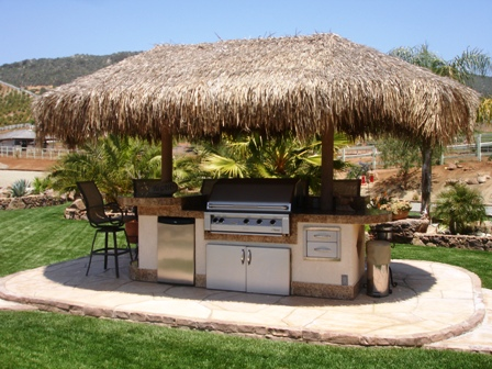 Tiki Hut Outdoor Kitchen