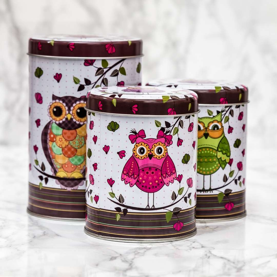 Owls on Cute Canisters