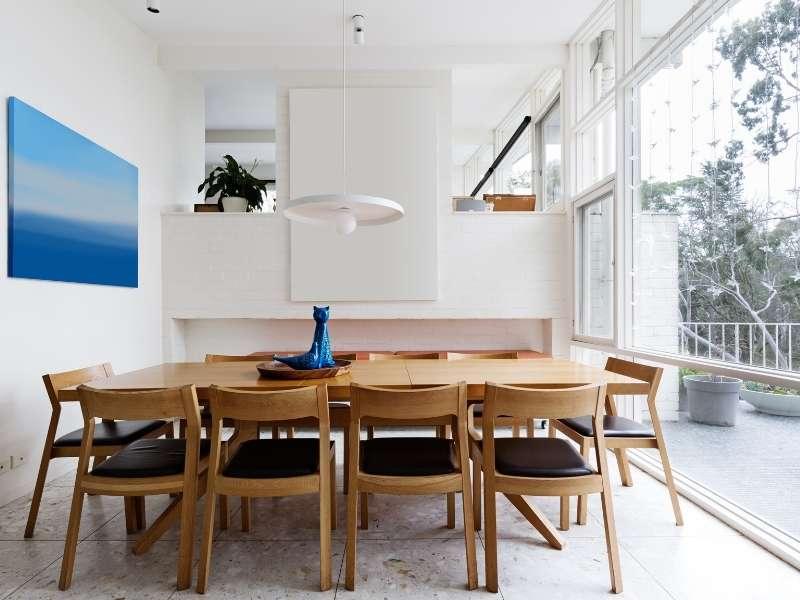 Design a mid century modern dining room