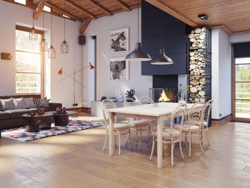 Hardwood Flooring on the Ceiling