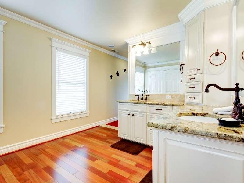 Hardwood Flooring in the Bathroom