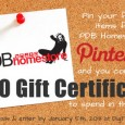Announcing the PDB Homestore Pin to Win contest! Pin your favorites from PDB Homestore to your Pinterest boards and you could be the 1 lucky pinner that will win a […]