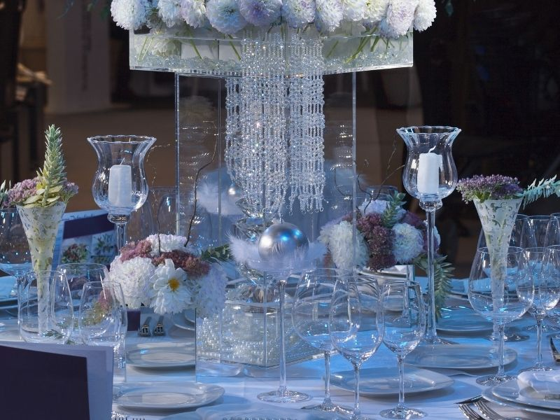 Baby And Wedding Shower Centerpieces - Glass