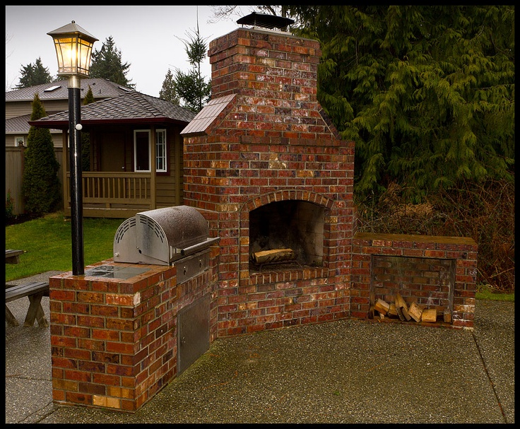 Backyard BBQ Brick Grill Designs 736 x 607