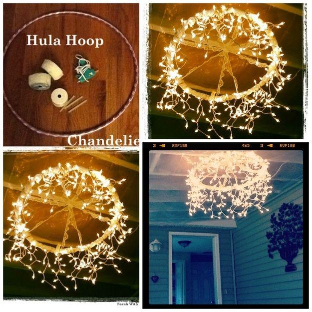 Diy hula hoop christmas light chandelier for patio porch or diy hula hoop christmas light chandelier for patio porch or backyard aloadofball Choice Image