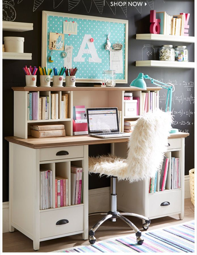PB Teen Girl Desk Ideas 694 x 897