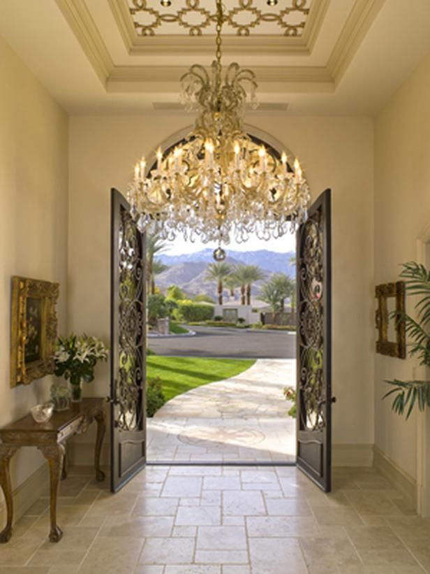 Enlighten your lavish entryway dig this design for Outside foyer designs