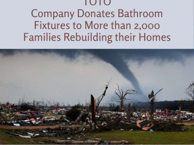 TOTO Company Donates Bathroom Fixtures to More than 2,000 Families Rebuilding their Homes