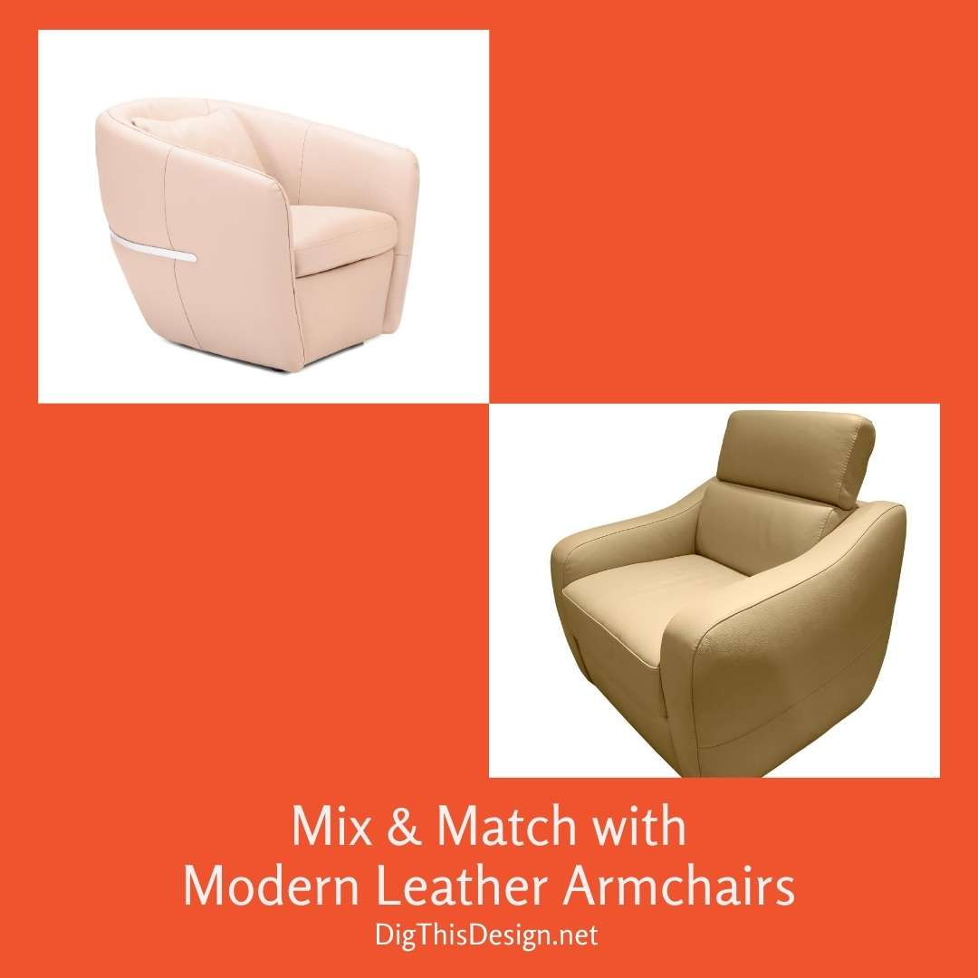 Mix & Match With Modern Leather Armchairs