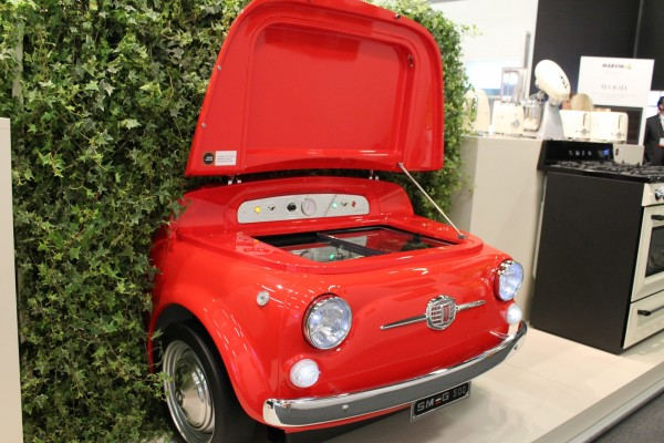 car shaped retro cooler by smeg at architectural home design show 2015 nyc