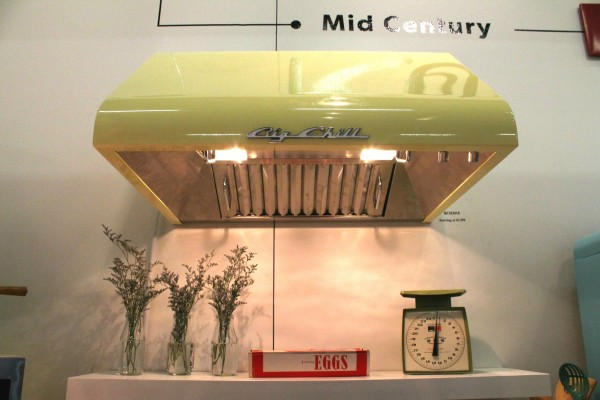 Big Chill retro yellow hood at architectural home design show nyc