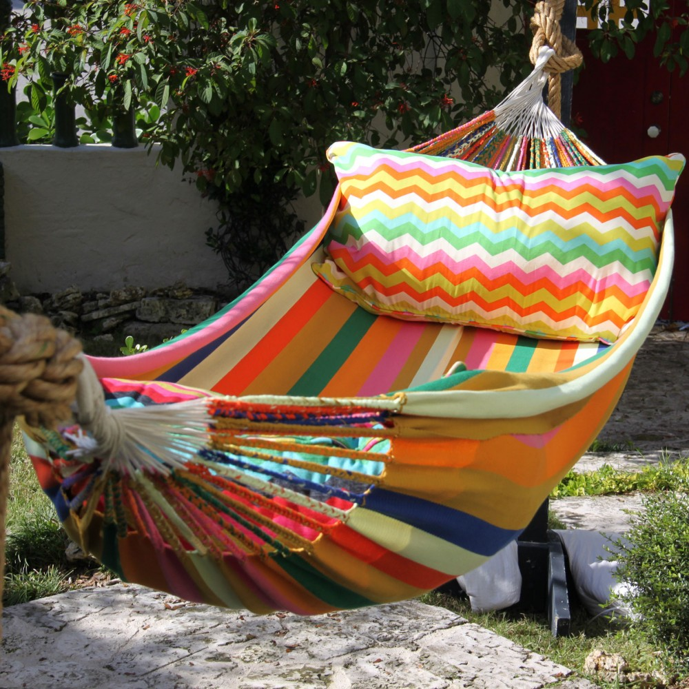 alicia kossick design colorful stripped hammocks florida wayuu