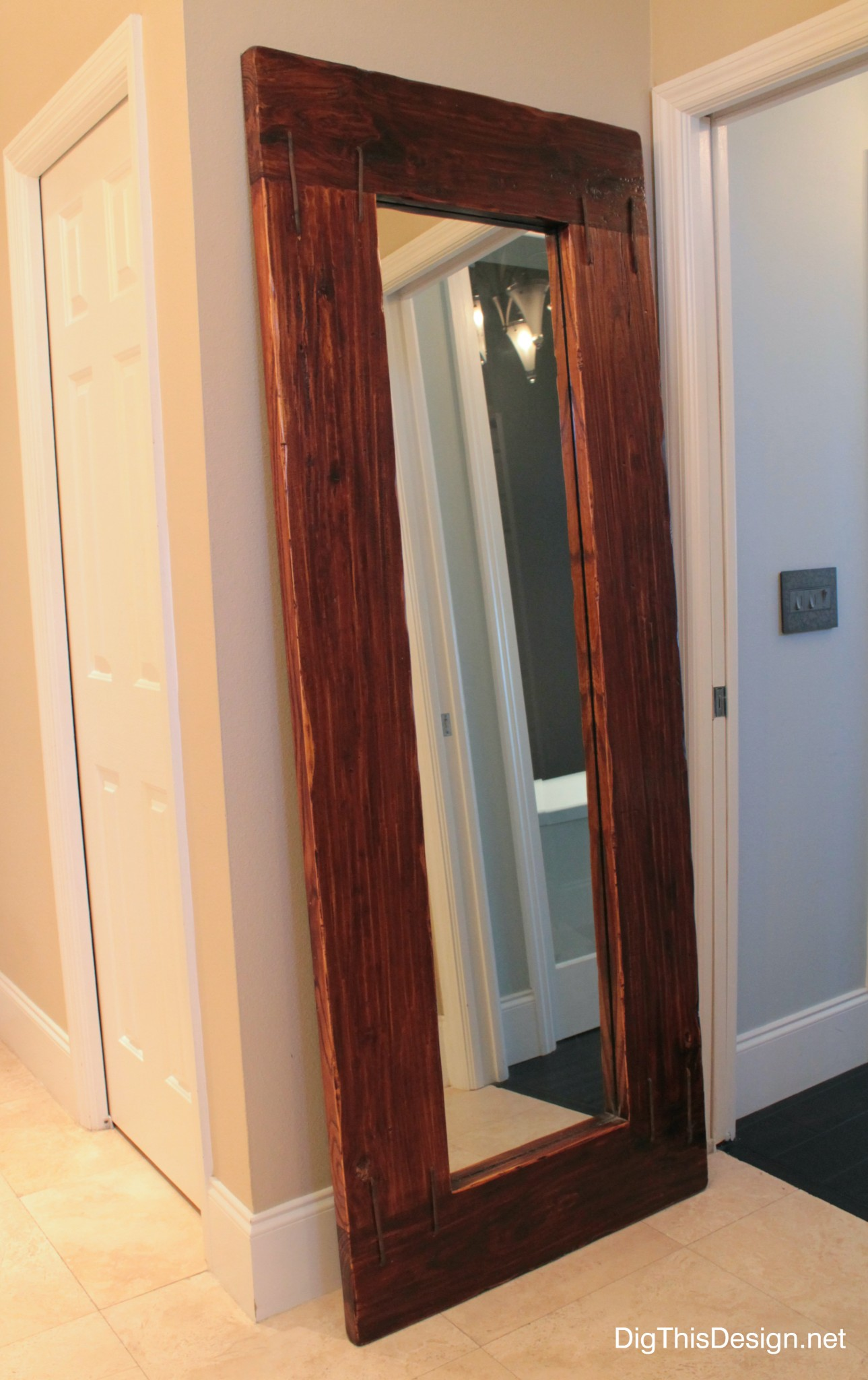 bathroom accessories leaning mirror reclaimed rustic wood bathroom vanity facelift