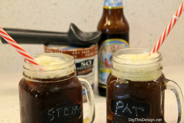 "Guilt-free ""CLEAN"" root beer float from Clean Drink Happy Hour"