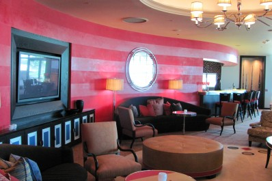 Sub-Zero Wolf headquarters. Gloss & matte striped Venetian plaster wall design