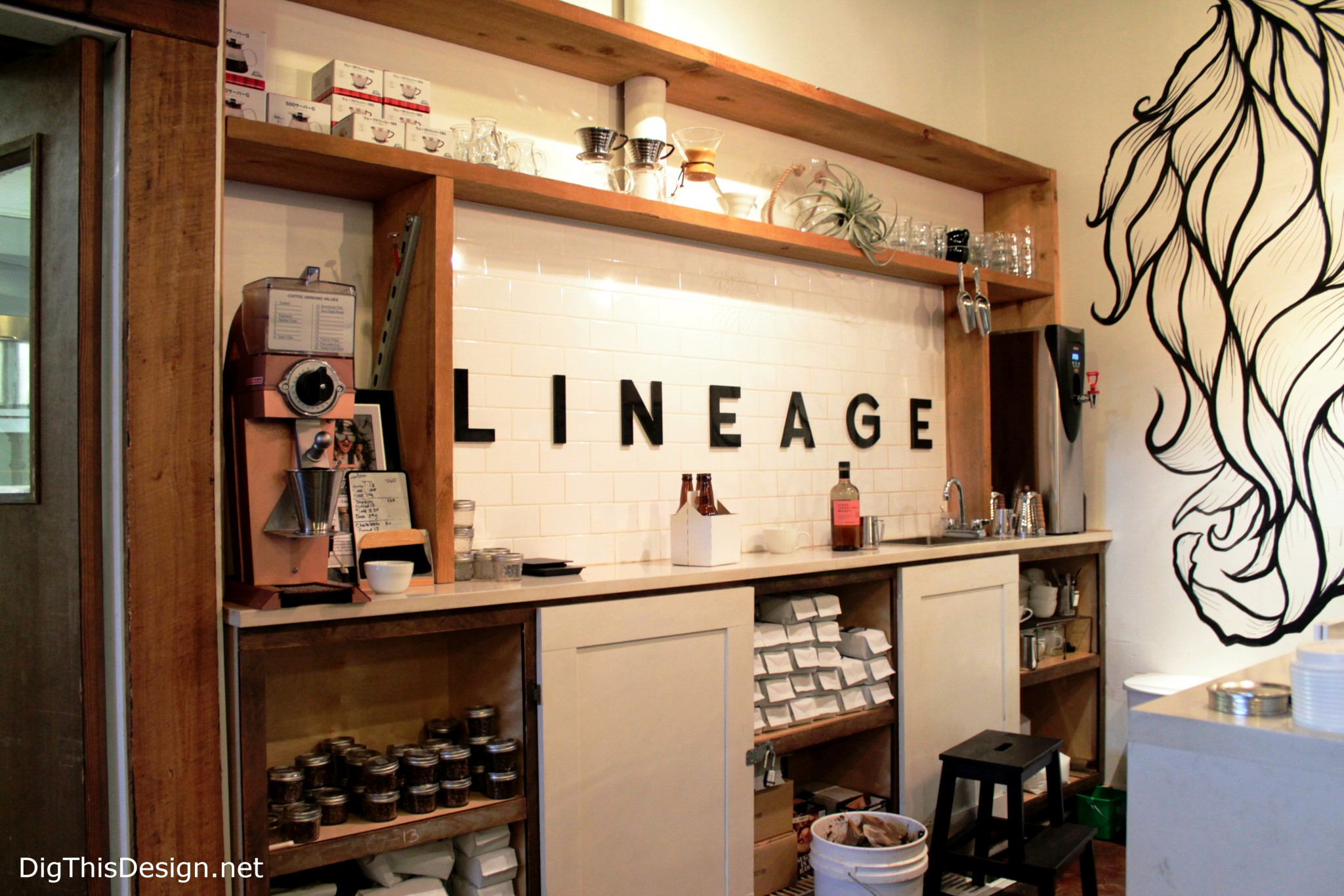 Lineage coffee roaster and shop at East End Market