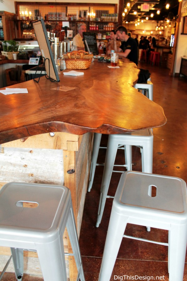 Local Roots wood countertop at East End Market