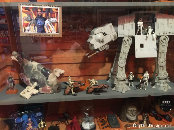 Satchel's collection of Star Wars memorabilia