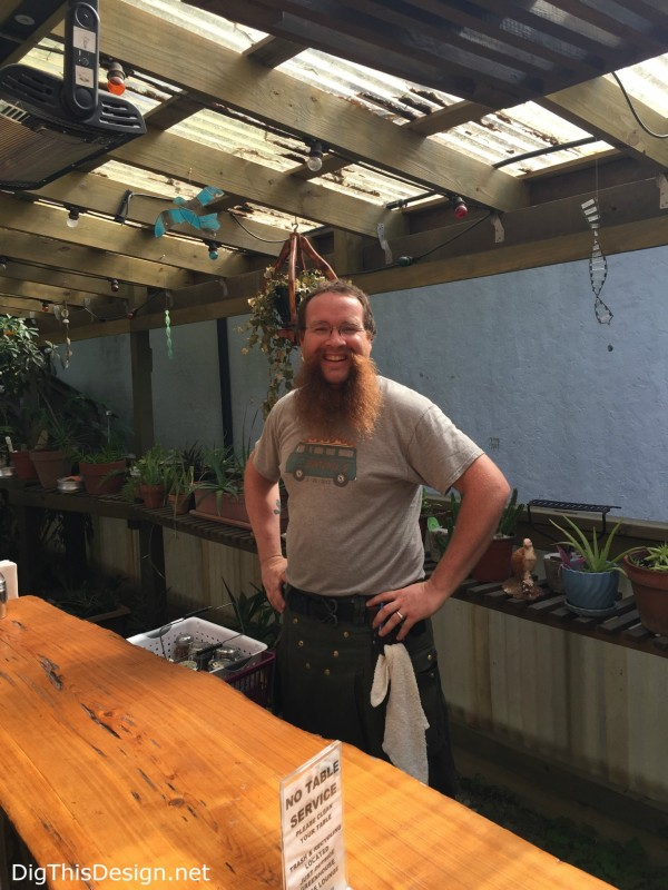 Satchel's Pizzeria and Junk Museum has a dine in greenhouse