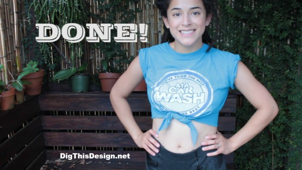 Easy No Sew, a better way to tie a t shrit DIY tutorial