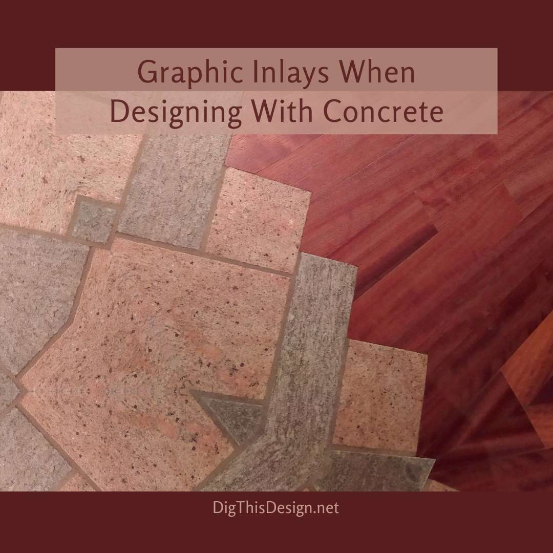 Graphic Inlays When Designing With Concrete