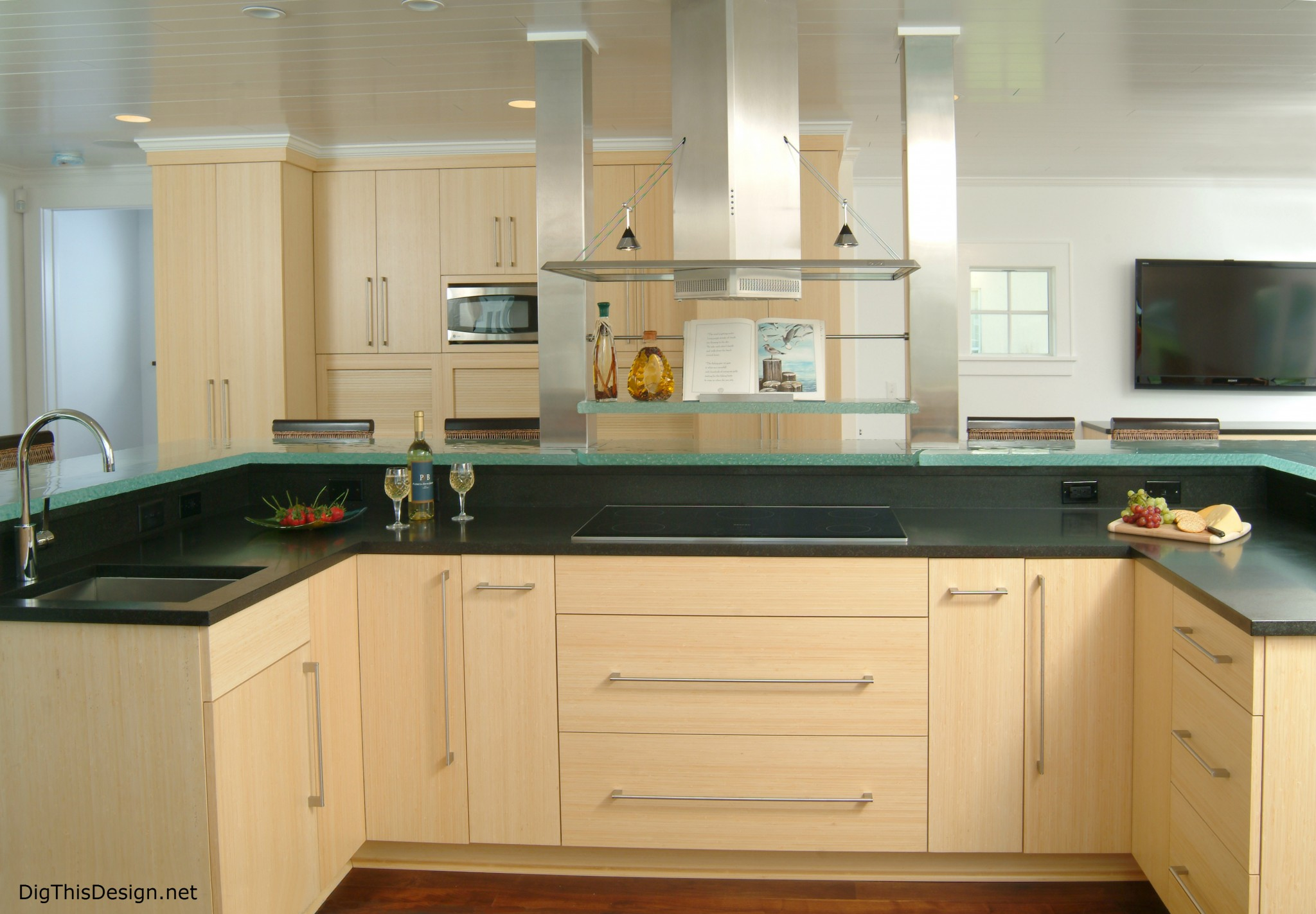 Pdb designs contemporary kitchen hood dig this design - Contemporary kitchen design ideas tips ...