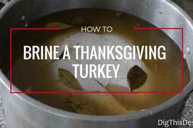 Thanksgiving turkey in a pot filled with brine solution
