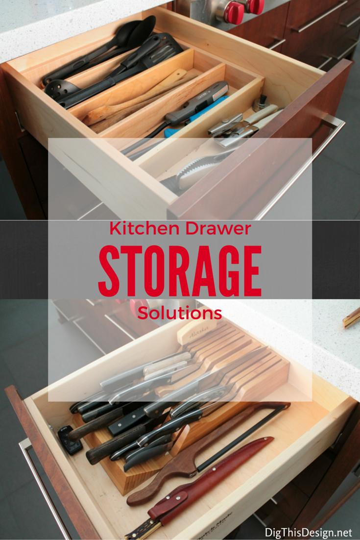 kitchen drawer utensil and knife organizer accessories