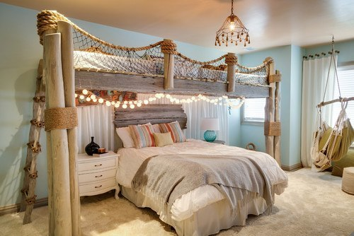 warm coastal bedroom interior design with
