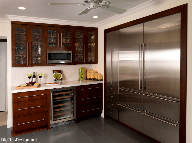 wine cooler kitchen cabinet