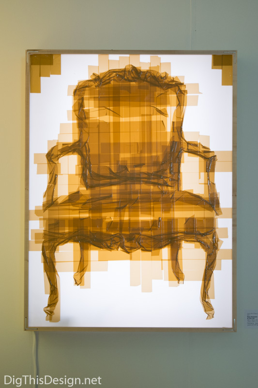 Contemporary art by Khaisman tape chair at Scope of Art Miami 2015