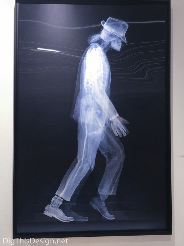 Nick Veasey Michael Jackson moonwalker x-ray photograph lenticular contemporary art scope of art miami 2015