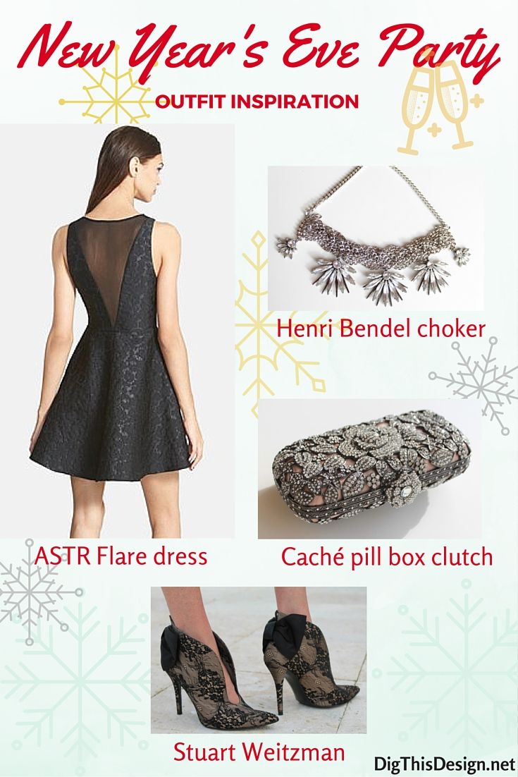 new years eve party outfit ASTR dress Stuart Weitzman lace pumps gemstone clutch Henri Bendel chocker necklace