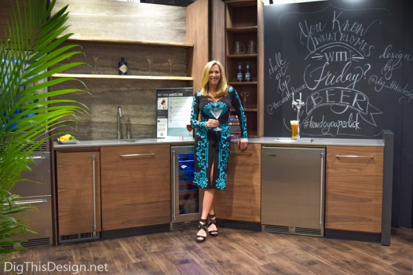 Designer Patricia Davis Brown as a finalist for #howdoyouperlick design competition kbis2016 at Perlick booth