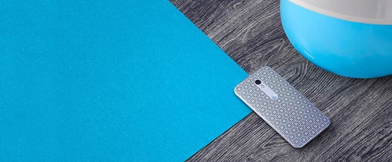 motorola Moto X Pure Edition designed by Jonathan Adler stylish blue pattern smartphone