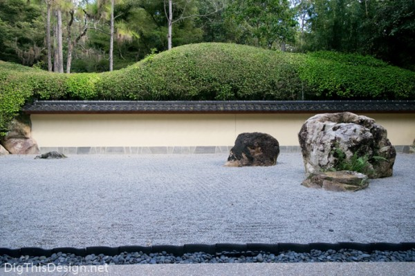Japanese meditation rock garden at Morikami in Delray Beach