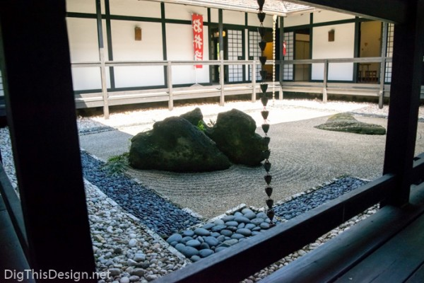 Japanese meditation rock garden at Morikami park in Delray Beach, Florida