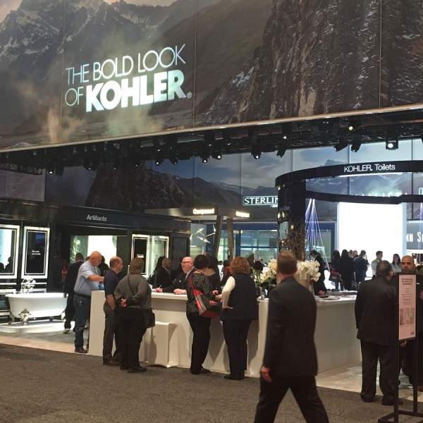 Kohler booth at the KBIS 2016 show in Las Vegas