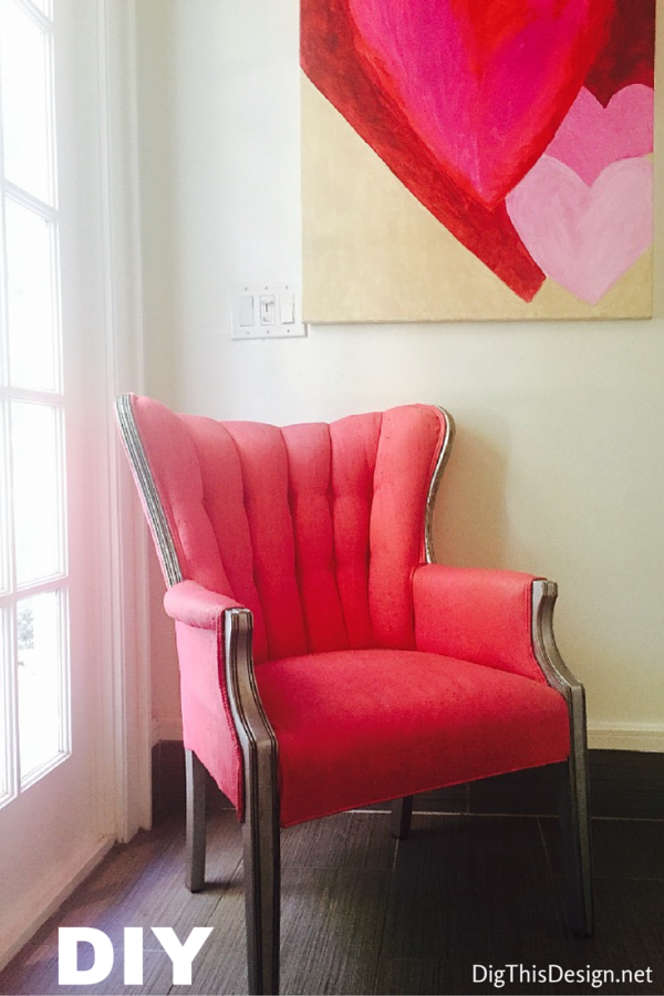 A finished classic chair DIY with do it yourself chalk paint tutorial.