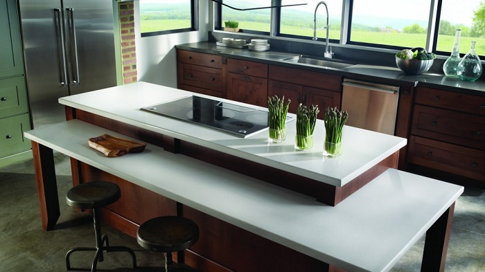 Modern kitchen using Eco by Cosentino eco friendly counter top material