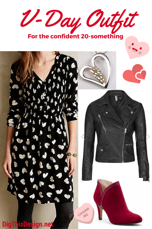 Valentine's day themed outfit style from a 20 something year old.