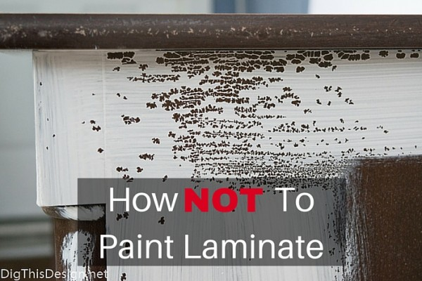 How to not paint laminate furniture. Mistakes when prepping to paint laminate finishes on furniture.