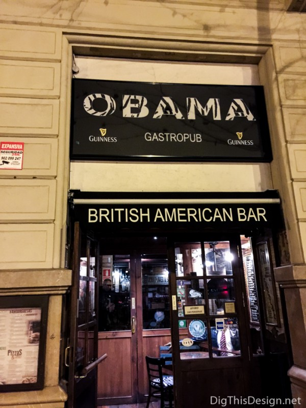 Obama Bar, located in Barcelona