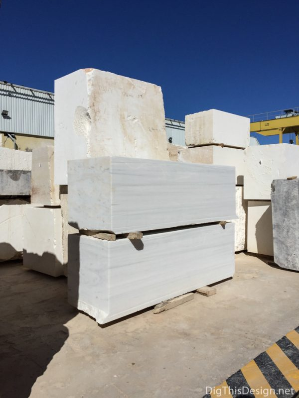 Cosentino's manufacturing plant, blocks of marble