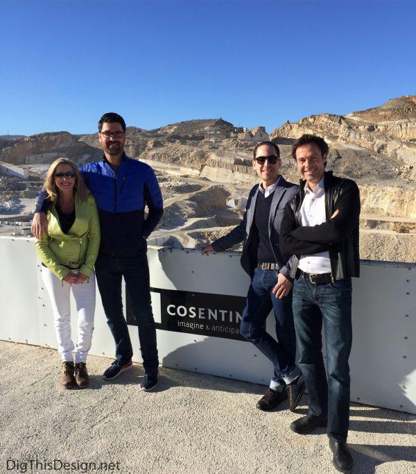 Cosentino's quarry visit with the K+B Insiders.